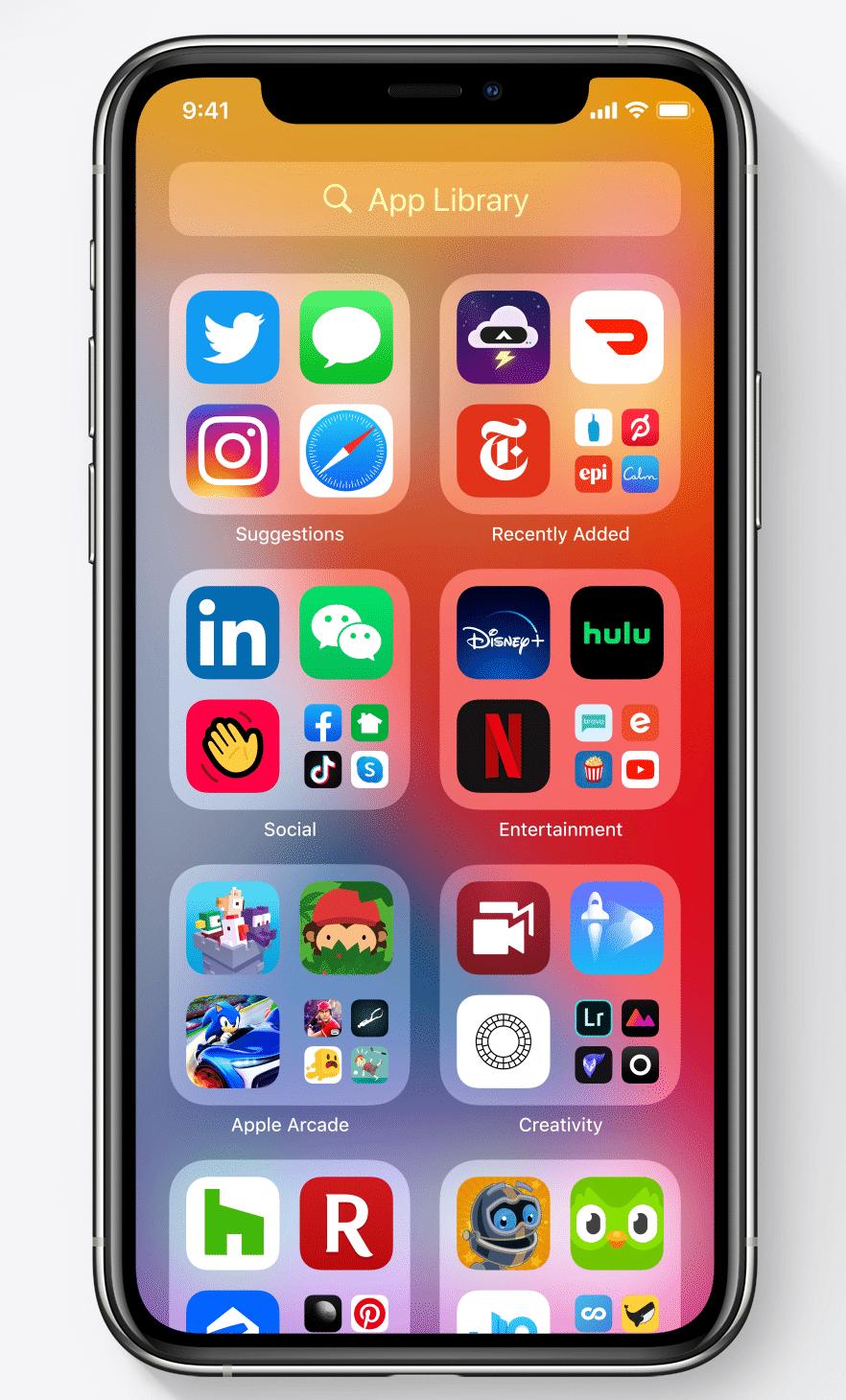iOS 14 Uygulama Kitaplığı